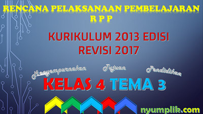Download RPP Revisi 2017 Kelas 4 tema 3 File MS Word