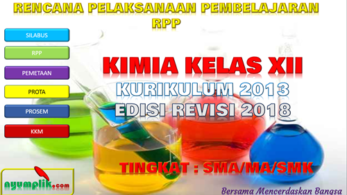 Download RPP Kimia Kelas XII K13 Revisi 2018