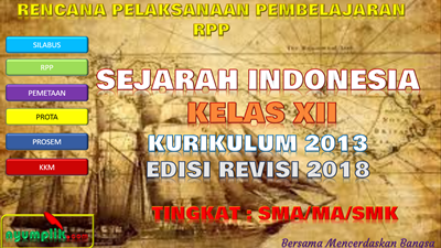 Download RPP Sejarah Indonesia Kelas XII K13 Revisi 2018