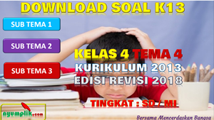 Download Soal Kelas 4 Tema 4 Kurikulum 2013 Revisi 2018