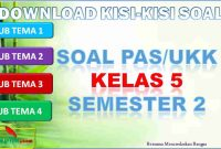 Kisi-kisi PAS/UKK Kelas 5 Semester 2