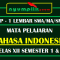 RPP Bahasa Indonesia 1 Lembar SMA Kelas XII Untuk Semester 1 dan 2