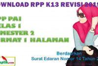 RPP PAI 1 Lembar Kelas 1 Semester 2