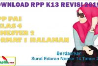 RPP PAI 1 Lembar Kelas 4 Semester 2