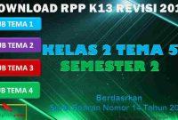 RPP 1 Lembar SD/MI Kelas 2 Semester 2 Tema 5