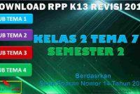 RPP 1 Lembar SD/MI Kelas 2 Semester 2 Tema 7