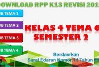 RPP 1 Lembar SD/MI Kelas 4 Semester 2 Tema 6