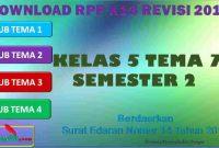 RPP 1 Lembar SD/MI Kelas 5 Semester 2 Tema 7