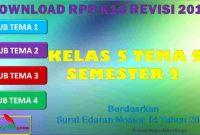 RPP 1 Lembar SD/MI Kelas 5 Semester 2 Tema 9