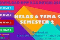 RPP 1 Lembar SD/MI Kelas 6 Semester 2 Tema 9