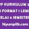 RPP Kurikulum 2013 PAI Format 1 Lembar Kelas 6 Semester Ganjil