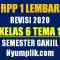 Download RPP 1 Lembar Kelas 6 Semester 1 Tema 1 Format Terbaru